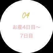 お産4日目〜7日目